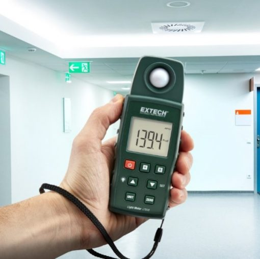 Extech LT510 Lux Meter in use