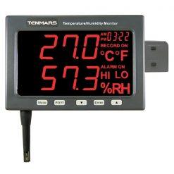 Tenmars TM-185D LED Temperature, Humidity Meter Recorder